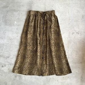 USEDレオパードシルクスカート