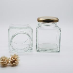 ハーバリウム瓶 ボトル (角180) キャップ付180ml お得な2本セット[HS-角180]