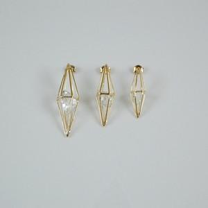 ハーキマーダイヤモンド/'LARME'(しずく)  SQ1M ピアス