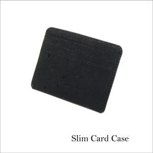 VEGAN CARD CASE  BLACK / カードケース 黒 コルク製