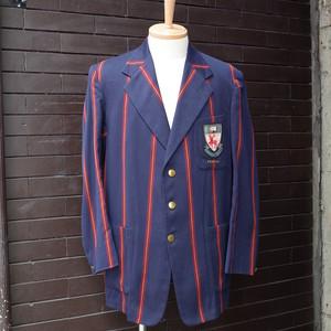 British Vintage Stripe Pattern School Uniform Tailored Jacket / イギリス ヴィンテージ ストライプ スクールジャケット