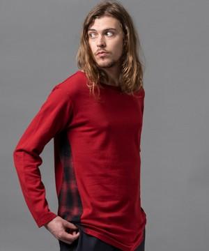 "VIRGOwearworks / ヴァルゴウエアワークス | "" SIDE WING CHECK SEW "" - Red"