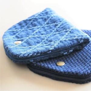 うしじま縫製 | 武州正藍染 マスクケース 二重刺子