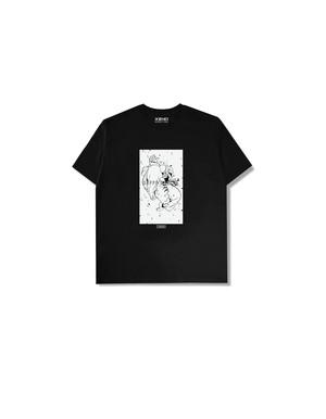 "XENO x BAKI Collaboration T-shirt ""DOPPO"" Black"