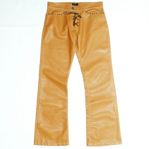 『ENERGIE GOLD』00s PVC flare pants *Deadstock