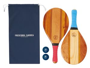 【新価格】 FRESCOBOL CARIOCA: Trancoso/フレスコボールラケット(2本)& ボール2個 & バッグセット