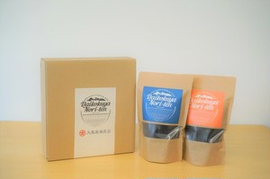 """seaweed ‶nori"""" 2種類(味付け海苔・明太子)★ギフトボックス・手提げ袋付き"""