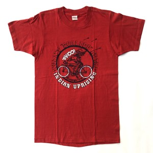 80's ヴィンテージ インディアン モーターサイクル Tシャツ SUPER SCREN STARS Indian Motorcycle Print DEAD STOCK(L)