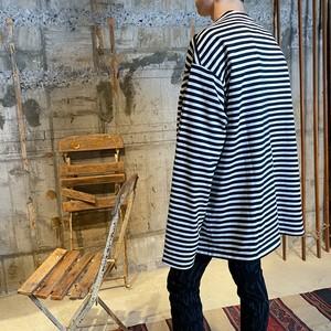 TAKAHIROMIYASHITA The SoloIst.【タカヒロミヤシタ ザ ソロイスト】Shoulder buttoned boat neck shirt (BORDER)