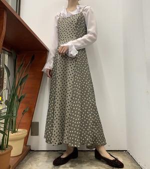 Neo dot print camisole maxi one-piece 【36】