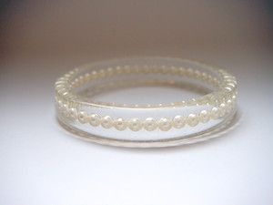 circle bangle pearl [C-001]