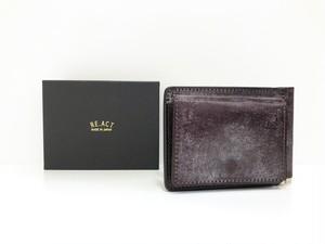 【RE.ACT】Money Clip Wallet (burgundy)