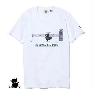 grn outdoor SOTOASOBI S/S TEE(TOOL:柄A) go105M Tシャツ ダックロー アウトドア クルーネック 天竺 綿