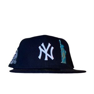 NEW ERA New York Yankees 27World Championships  59Fifty Fitted / Navy×White (Gray Brim)