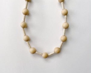 wood & riverstone necklace