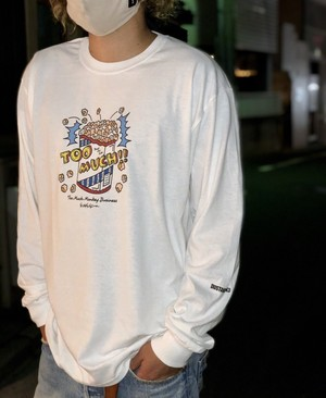 "DUST AND ROCKS × Yutaka Nojima Long Sleeve T-shirts ""TOO MUCH"""
