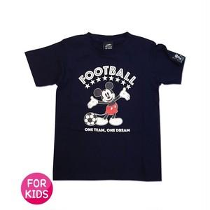 Mickey Mouse コラボ Tシャツ gramo「ONE DREAM」(ネイビー/T-022) ※110~150cmサイズ