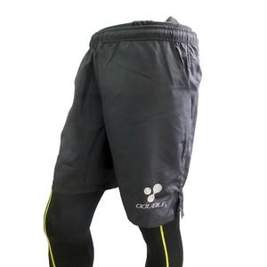 【DOUBLE3(ダブルスリー / ダブル3)】 メンズ (Men's) DW-2660 BLACK 5インチ ランニングパンツ ブラック / バックポケット、ドローコード付き
