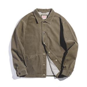 【UNISEX】横須賀風 刺繍入り コーデュロイ シャツ ジャケット