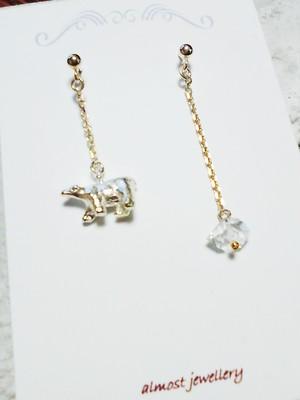 almost jewellery 5earrings polar bear