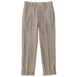 THE NERDYS / CHECK PIPE SLACKS[BROWN CHECK]