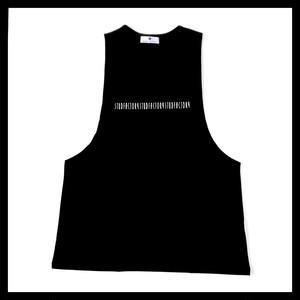 graphic logo drop arm(BLACK)