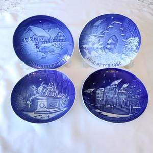 【EX1911-D4】絵皿セット 北欧クリスマス ROYAL COPENHAGEN ロイヤルコペンハーゲン イヤープレート
