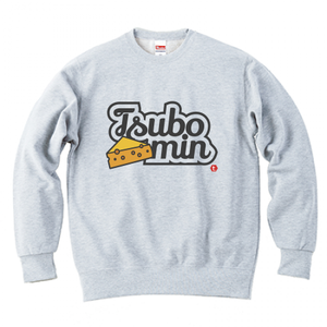 TSUBOMIN / CHEESE & LILY SCRIPT LOGO CREWNECK SWEAT ASH
