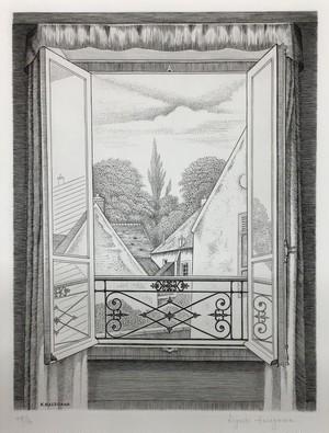 長谷川 潔「開かれた窓」
