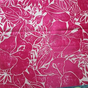 USA Cotton Hawaiian Fabric     ハイビスカスMagenta