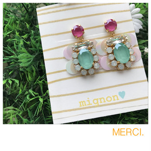 mignon♪ antique box/ June イヤリング。