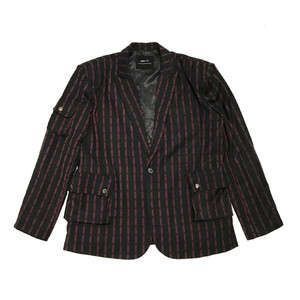 ILL IT - CROSS DOT STRIPE SIGNATURE JACKET (RED)
