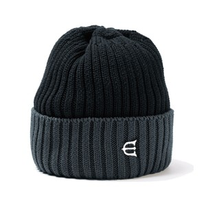 EVISEN COTTON 2TONE KNIT CAP BLACK エビセン ニットキャプ
