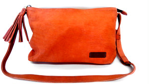 Yezo deer shoulder bag tanned brown