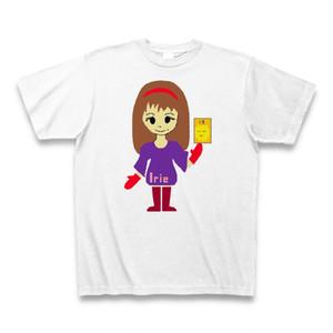 Irieキャラ魔除け手書き似顔絵サンキューTシャツ