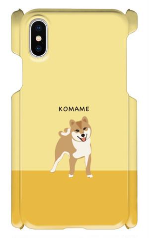 iPhone X こまめスマホケース[CAMEL]