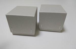 チップボール紙 ギフト箱(グレー)6個入