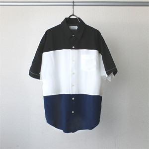 Bamboo Dolman Sleeve Switch Shirts MixB(Black×White×Navy)