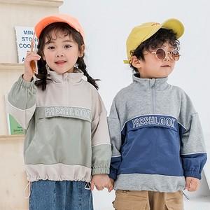 【トップス】暖かい男の子韓国長袖裹起毛キーズ女の子無地スウェット·パーカー24652368