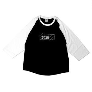 scar /////// OG RAGLAN 3/4 SLEEVE TEE (Black/White)
