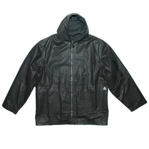『G-FORCE』90s waxed hoodie zip jacket *deadstock