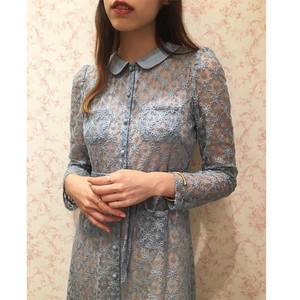VD-119 (waist ribbon lace dress)