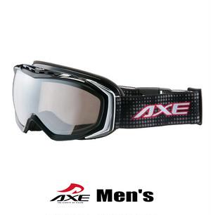 スノーゴーグル メンズ 男性用 AXE アックス ax700 wmd bk ブラック [スノーゴーグル スキー スノボー スノー ゴーグル]