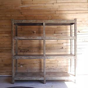 アンティーク 木製ペイントシェルフ B