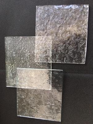 ステンドガラス ミニサイズ クリア 3枚セット