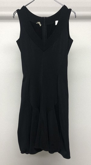 1990s ALAIA PARIS V NECK VISCOSE DRESS