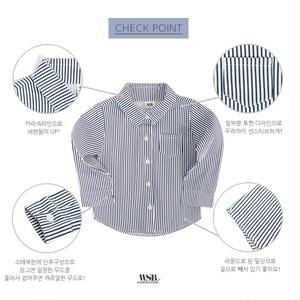 予定注文) ストライプシャツ 140.150