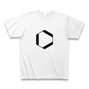 理系Tシャツ【ベンゼン環/外側/白】-(Scien-T'st)Benzen