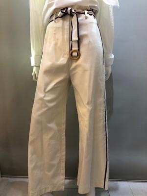 REBEL Paris 14072 Col.Beige サッシュベルト付パンツ フランス製