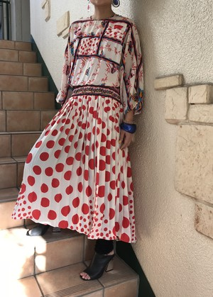 Diane freis white polka dots & butterfly dress ( ダイアン フレイス ドット × 蝶々 ワンピース )